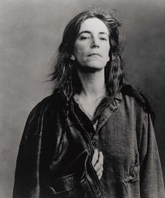 Patti Smith is so cool.  I love her no fuss look, and confidence.  She owns who she is.  I love it when women love themselves enough to be who they really are.