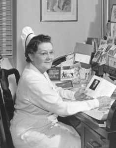 Inspiration flashback: This is a photo of Oca Cushman, the first superintendant (equivalent to CEO) of Children's Hospital Colorado. Oca worked at our hospital for 45 years. Learn more about our unique history.