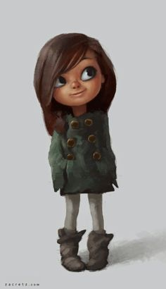 Zac Retz - Character Design Illustration~ omg she's so cute she reminds me of my 6 year old cousin Character Design Cartoon, Kid Character, Character Design References, Character Design Inspiration, Character Concept, Concept Art, Art And Illustration, Character Illustration, Cartoon Kunst