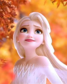 Frozen 2 fall wallpapers with autumn leaves