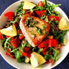 Healthy Living in Heels: Tuna Salsa Verde: a delicious dinner!