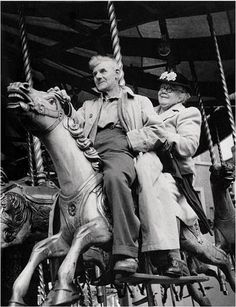 Your never to old for the merry-go-round...