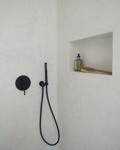 """I take showers to think"" J.R Rim #villagrung #shower #bathroomdesign #bathroom #minimalism #microcement #claystone #claylime #soukbergen… Cheap Dorm Decor, Cheap Bedroom Decor, Bathroom Wall Decor, Bathroom Colors, Bathroom Interior Design, Colorful Bathroom, Dyi Bathroom, Bathroom Trends, Family Bathroom"