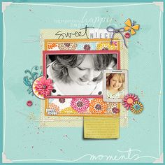 The paper choices and colours with that awesome photo totally work wonderfully in this layer works template. By mymalloryboys