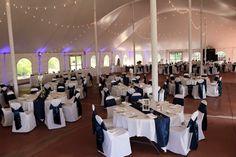 navy & white wedding at Countryside