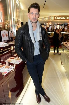 David Gandy at Charlotte Tilbury's Christmas Party
