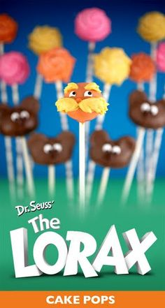 How to make your own Seuss lorax cake pops! She makes it look easy