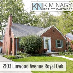 Just Listed | 2103 Linwood Avenue Royal Oak MI  Beautiful solid brick bungalow in Northwood sub! Entry foyer welcomes you in to bright, classic living room with coved ceilings, fireplace and beautiful hardwoods throughout. Dining room has chair rail and divided glass door to lovely screened-in porch overlooking backyard. Bright, white updated kitchen boasts extensive granite counter space and plenty of cabinet storage. Two bedrooms on entry level share a sharp, vintage tiled