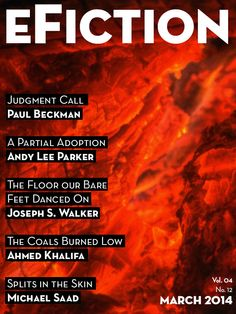 """eFiction Vol. 04 No. 12 - features my story """"Splits in the Skin,"""" about a bitter teenager's spiral into the world of """"Crazy Harvey,"""" a man whose notorious partying also harbors dark secrets of his own.  The corollary to this story, tentatively titled """"Splits in the Heart,"""" will be out next year."""