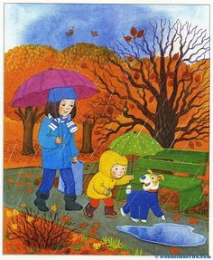 Imágenes educativas | El otoño - Las estaciones del año - Web del maestro Drawing Pictures For Kids, Clip Art Pictures, Drawing For Kids, Pictures To Draw, Art For Kids, Teaching Kids Colors, Four Seasons Art, English Creative Writing, Autumn