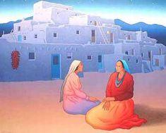 "Image detail for - RC Gorman, ""Taos Storyteller"""