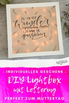 at zu Gast im Lettering Interview Diy Mothers Day Gifts, Mother's Day Diy, Diy Pins, Diy Cards, Diy For Kids, Upcycle, Lovers, Interview, Inspiration