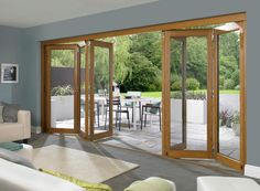 bi folding wooden patio doors - Google Search