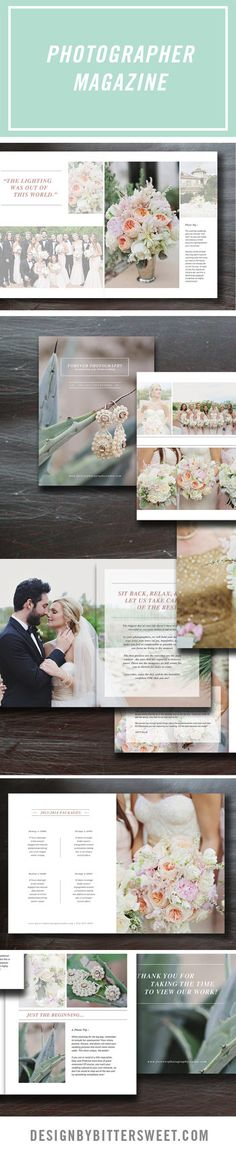 Wedding Photography Magazine Template by designbybittersweet #photoshoptemplate