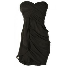 Lily Boutique Dreaming of You Chiffon Drape Party Dress in Black - WHAT'S NEW Lily Boutique