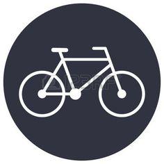 vector bike outline: Bicycle outline icon, modern minimal flat design style, bike vector illustration