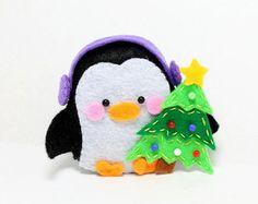 Felt Penguin Pattern PDF File 3 Sizes Instant by CasaMagubako