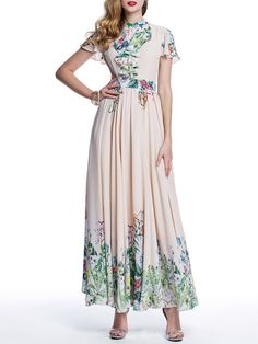 Shop Maxi Dresses - Pink Elegant A-line Maxi Dress online. Discover unique designers fashion at StyleWe.com.