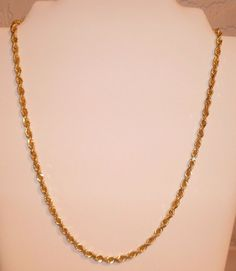 Rope Chain 14k Gold Fine Beautiful Vintage Diamond Cut Rope Fine Estate Vintage #Handmade #Chain