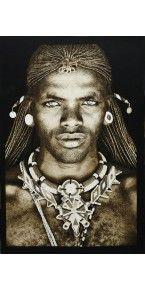 Samburu Warrior Eclectic Artwork, African Tribes