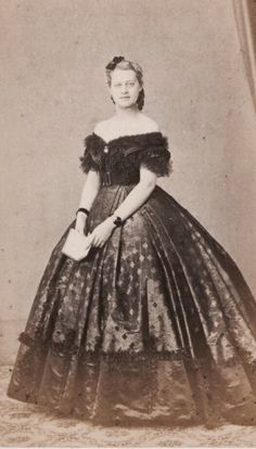 Princess Frederike of Hanover, later Baroness von Pawell Rammingen. Late 1860s