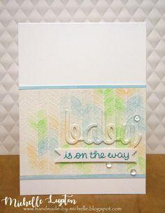 Handmade by Michelle: Baby boy card