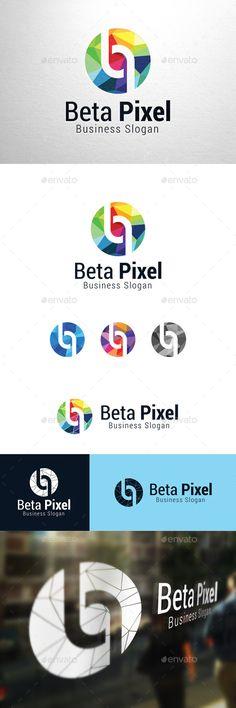 Beta Pixel, Letter p & b Logo  #p letter #p logo #paper #Pb #pixel #stone #studio #web #$30