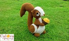 Patrón Ardilla amigurumi. Caloca Crochet. por CalocaCrochet en Etsy