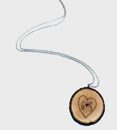 Custom Branch Initial Necklace | We're of the opinion that hearts are meant to be worn — if not... | Necklaces