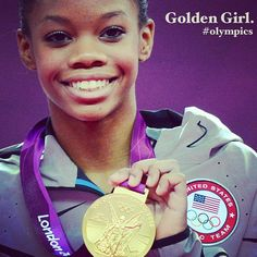 Gabby Douglas also wins the cuteness competition easily.