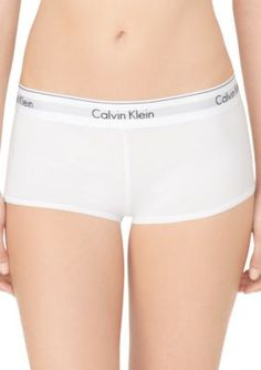 965f42e7e5a Calvin Klein Modern Cotton Boyshort - F3788. White UnderwearCotton ...