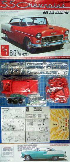 Vintage 2585: Chevrolet 55 Bel Air Hardtop Vintage Amt # 4803 Big 1 16 Sealed Bags Complete -> BUY IT NOW ONLY: $69.98 on eBay!