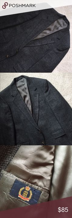Classic Herringbone Tweed Sport Coat🏆 Grey and black tweed with a hit of teal,  blue, and red woven in, but you have to look close! 2 button closure with vented back!  Love it! Bill Blass Suits & Blazers Sport Coats & Blazers