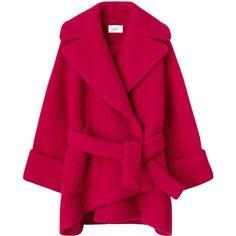 コート ❤ liked on Polyvore featuring outerwear, coats, jackets, casaco and pink coat