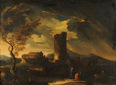 landscape paintings 18th century | of Gaspar Poussin (Gaspar Dughet) (18th century) Classical Landscape ...