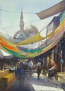 Izmir, Turkey II by Keiko Tanabe Watercolor ~ 11 1/2 x 8 1/4 inches (29 x 21 cm)