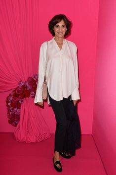 Ines de la Fressange Photos: Front Row at Schiaparelli
