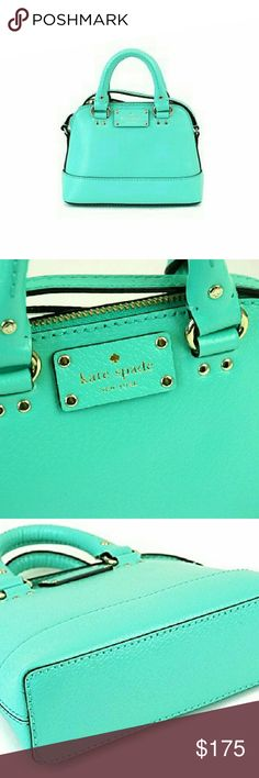 """NWOT Kate Spade Mini Rachelle Bag OVERVIEW  Boarskin-embossed leather with 14-karat light gold hardware. No tag provided in store but comes with the original stuffing paper, KS bag booklet etc. Truly a stunningly chic summer mini!!!  DETAILS  * Approximately: 8""""(L)*6""""(W)*2.75(D) * Adjustable crossbody strap 21"""" * Zip-top closure * 1 interior slip pocket * This style does not come with a dust bag, however at the store they gave me two smaller ones that, when paired together, fit over. kate…"""