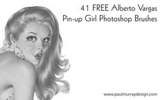 Free Pin Up Girl Photoshop Brushes