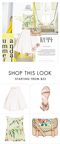 """""""Summer Sandals Under $50"""" by violet-peach ❤ liked on Polyvore featuring Rachel, Vika Gazinskaya, even&odd, Elizabeth and James, Accessorize and summersandals"""