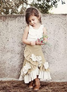 Little Girl Skirt. Do something new today that will be fashionable all summer.