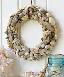 Seashell and Driftwood Wreath