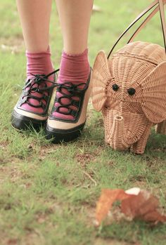 can't get over how cute this woven elephant bag is :)