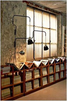 Studio. Conservar textura paredes existentes en el estudio zona invitados