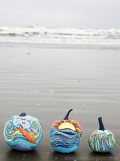 Beach Pumpkins - Alisa Burke