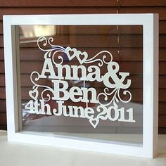 Idea for wedding gift using Cricut...could use for anything (birthdays, etc)