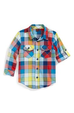Tea Collection 'Medina' Plaid Shirt (Little Boys & Big Boys) available at #Nordstrom