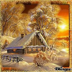 Blingee Winter | sunset winter etiquetas winter