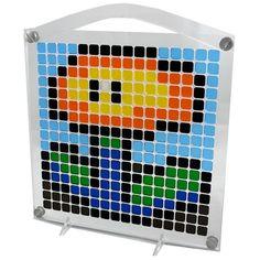Fire Flower  Pixel Puzzle Art by SybariteStudio on Etsy  – #retrogame characters. #pixelfun #pixelplay #pixelpuzzle #pixzle #puzzle #pixelart #8bit #pixel #art #retro #game #characters #ATXartisans #TeamATXartisans #atxwonderland