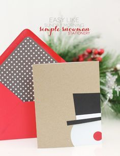 Easy Snowman Cards | Damask Love